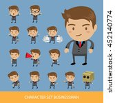 set of businessman characters... | Shutterstock .eps vector #452140774