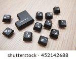 black keys of enter key on a...