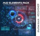 abstract hud interface web...