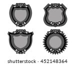 wreath frame in gray tone | Shutterstock . vector #452148364