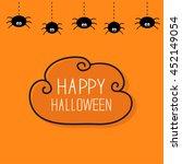 hanging black spiders on dash... | Shutterstock . vector #452149054