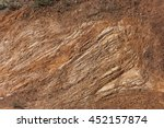 the reddish brown rock called... | Shutterstock . vector #452157874