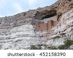 montezuma castle near the town... | Shutterstock . vector #452158390