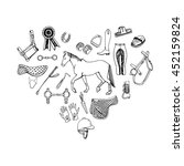 heart filled with hand drawn...   Shutterstock .eps vector #452159824