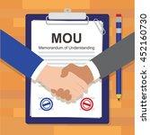 mou memorandum of understanding ... | Shutterstock .eps vector #452160730