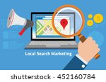 local search marketing | Shutterstock .eps vector #452160784