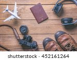 travel accessories and costume...   Shutterstock . vector #452161264