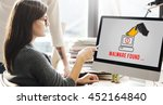 cyber attack crime fraud... | Shutterstock . vector #452164840