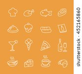 food line icons set.  | Shutterstock . vector #452165860