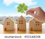 luck clover home | Shutterstock . vector #452168248