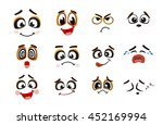 vector icons of smiley faces | Shutterstock .eps vector #452169994