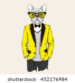 illustration of dog hipster... | Shutterstock .eps vector #452176984
