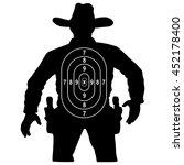 set cowboy duel target vector ...   Shutterstock .eps vector #452178400