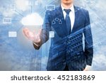 double expoure of professional... | Shutterstock . vector #452183869