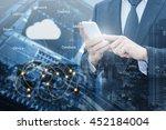 double exposure of professional ... | Shutterstock . vector #452184004