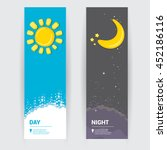 sun and moon in sky  day and... | Shutterstock .eps vector #452186116