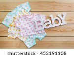 word baby with clothes on... | Shutterstock . vector #452191108