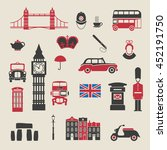 set of icons on the theme of... | Shutterstock .eps vector #452191750