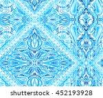 seamless placement ornamental...   Shutterstock . vector #452193928