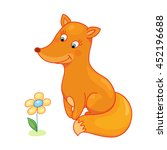 cute fox baby isolated caracter ... | Shutterstock . vector #452196688
