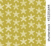 sea stars seamless pattern ... | Shutterstock .eps vector #452201644