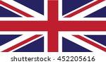 vector flag of great britain... | Shutterstock .eps vector #452205616
