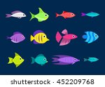cartoon fish collection... | Shutterstock .eps vector #452209768
