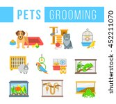 pets grooming flat colorful... | Shutterstock .eps vector #452211070