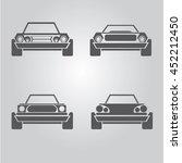 car logo set. vector car icons... | Shutterstock .eps vector #452212450