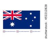flag of australia   carefully... | Shutterstock .eps vector #452212828
