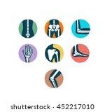 orthopaedics and sport medicine ... | Shutterstock .eps vector #452217010
