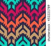 seamless vector tribal pattern...   Shutterstock .eps vector #452221789