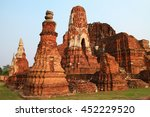 wat mahathat  the old thai... | Shutterstock . vector #452229520