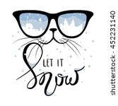 cat in the glasses in which... | Shutterstock .eps vector #452231140