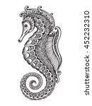 hand drawn graphic ornate... | Shutterstock .eps vector #452232310