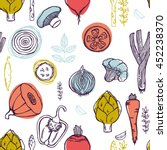 organic food seamless pattern.... | Shutterstock .eps vector #452238370