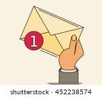 white envelope letter with...