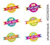 creative flat discount sale... | Shutterstock .eps vector #452240344