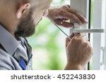 windows installation worker. | Shutterstock . vector #452243830