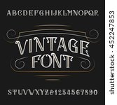 vintage alphabet. ornate type... | Shutterstock .eps vector #452247853