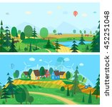 vector flat illustrations   eco ... | Shutterstock .eps vector #452251048