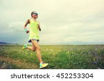 healthy young woman trail... | Shutterstock . vector #452253304