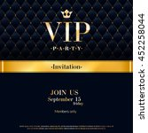 vip party premium invitation... | Shutterstock .eps vector #452258044