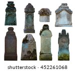 Set Of Gravestones  Isolated O...