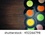 vinyl records with multicolored ... | Shutterstock . vector #452266798