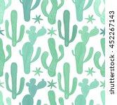 seamless watercolor botanical... | Shutterstock . vector #452267143
