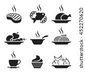 food and drink icons set | Shutterstock .eps vector #452270620