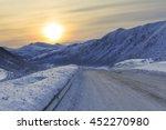 snowy road on senja island ... | Shutterstock . vector #452270980
