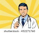 doctor therapist medicine and... | Shutterstock .eps vector #452271760