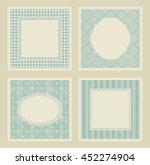 set of 4 vintage invitation... | Shutterstock .eps vector #452274904